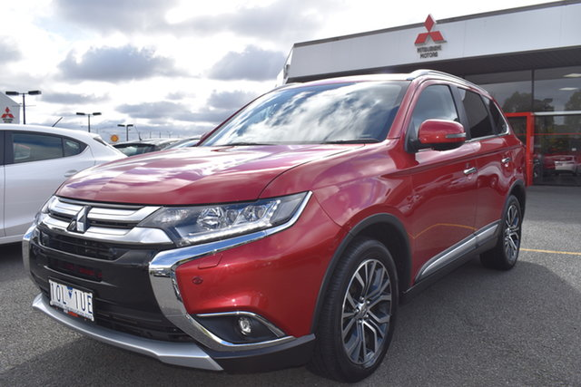 Used Mitsubishi Outlander ZL MY18.5 Exceed AWD Wantirna South, 2018 Mitsubishi Outlander ZL MY18.5 Exceed AWD Red 6 Speed Sports Automatic Wagon