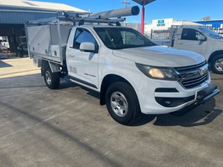 2016 Holden Colorado RG MY17 LS (4x4) White 6 Speed Automatic Cab Chassis.
