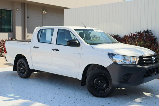 Used Toyota Hilux TGN121R Workmate Double Cab 4x2 Cairns, 2018 Toyota Hilux TGN121R Workmate Double Cab 4x2 White 6 Speed Sports Automatic Utility