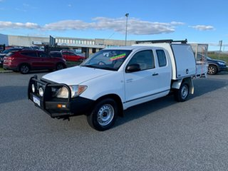 2008 Toyota Hilux GGN15R 08 Upgrade SR White 5 Speed Automatic X Cab Pickup.