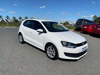 2012 Volkswagen Polo 6R MY12 77 TSI Comfortline White 7 Speed Auto Direct Shift Hatchback.