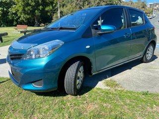 2012 Toyota Yaris NCP130R YR Blue 5 Speed Manual Hatchback.
