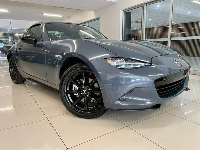 New Mazda MX-5 ND RF SKYACTIV-Drive Waitara, 2021 Mazda MX-5 ND RF SKYACTIV-Drive Grey 6 Speed Sports Automatic Targa