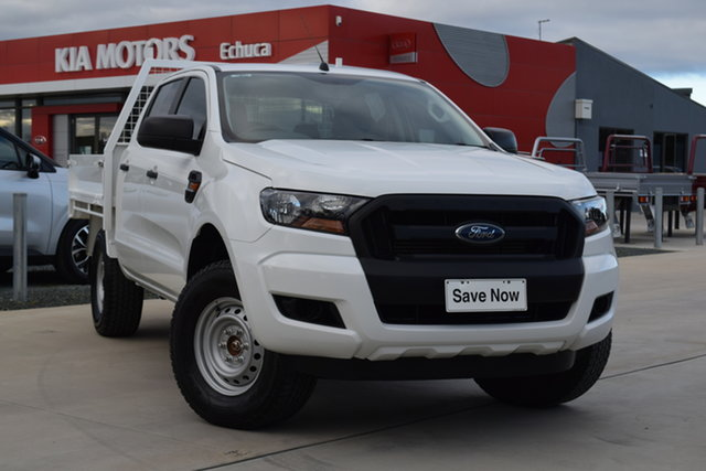 Used Ford Ranger PX MkII XL Echuca, 2016 Ford Ranger PX MkII XL White 6 Speed Sports Automatic Cab Chassis