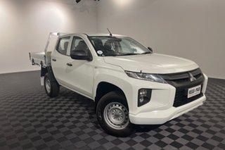2019 Mitsubishi Triton MR MY19 GLX Double Cab 4x2 ADAS White 6 speed Automatic Utility.