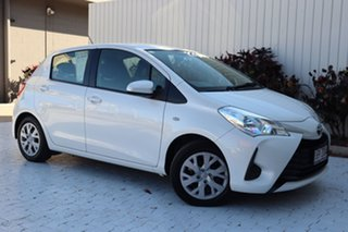 2019 Toyota Yaris NCP130R Ascent Pearl 4 Speed Automatic Hatchback.