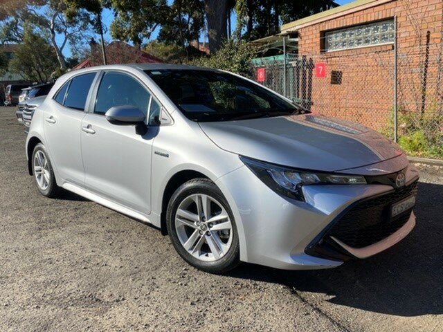Pre-Owned Toyota Corolla ZWE211R SX E-CVT Hybrid Mosman, 2019 Toyota Corolla ZWE211R SX E-CVT Hybrid Silver Pearl 10 Speed Constant Variable Hatchback