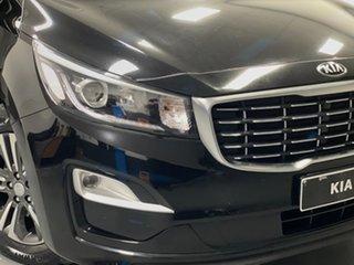 2018 Kia Carnival YP MY19 SLi Aurora Black 8 Speed Sports Automatic Wagon.