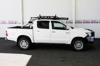 2011 Toyota Hilux KUN26R MY12 SR5 (4x4) Glacier White 4 Speed Automatic Dual Cab Pick-up