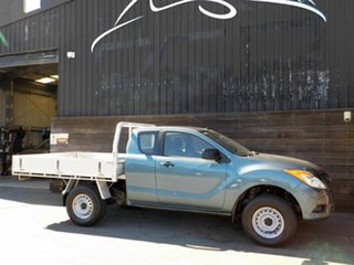 2012 Mazda BT-50 UP0YF1 XT Freestyle 4x2 Hi-Rider Blue 6 Speed Manual Cab Chassis.