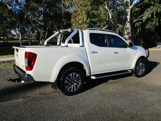 2015 Nissan Navara NP300 D23 ST-X (4x4) White 6 Speed Manual Dual Cab Utility.