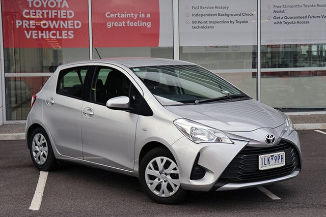 Pre-Owned Toyota Yaris NCP130R Ascent South Morang, 2017 Toyota Yaris NCP130R Ascent Silver 4 Speed Automatic Hatchback