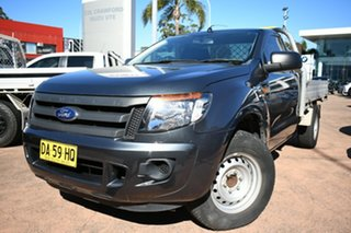 2014 Ford Ranger PX XL 2.2 (4x2) Grey 6 Speed Manual Cab Chassis.