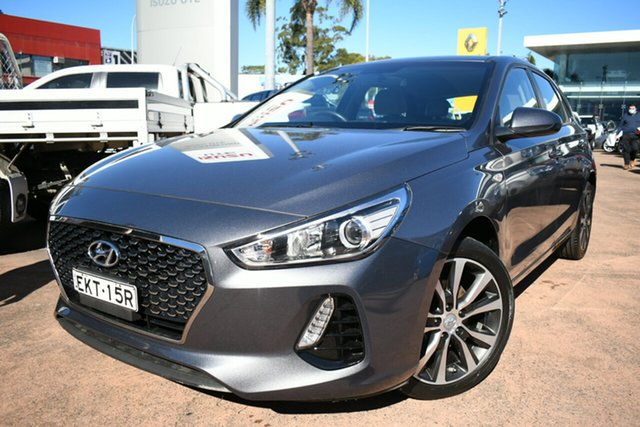 Used Hyundai i30 PD2 Trophy Limited Edition Brookvale, 2018 Hyundai i30 PD2 Trophy Limited Edition Grey 6 Speed Auto Sequential Hatchback