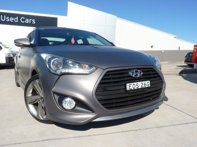 Pre-Owned Hyundai Veloster FS3 SR Coupe Turbo Blacktown, 2014 Hyundai Veloster FS3 SR Coupe Turbo Grey 6 Speed Sports Automatic Hatchback