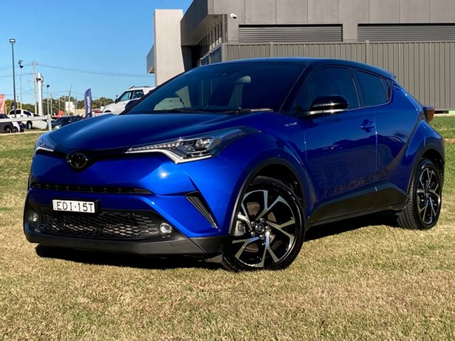 Used Toyota C-HR NGX10R Koba S-CVT 2WD South Grafton, 2019 Toyota C-HR NGX10R Koba S-CVT 2WD Nebula Blue & Black Roof 7 Speed Constant Variable Wagon