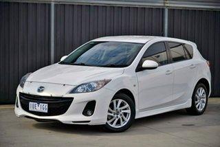 2013 Mazda 3 BL1072 MY13 SP20 SKYACTIV-Drive SKYACTIV White 6 Speed Sports Automatic Hatchback.