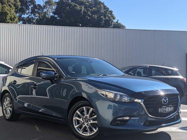 Used Mazda 3 BN5478 Touring SKYACTIV-Drive Wollongong, 2017 Mazda 3 BN5478 Touring SKYACTIV-Drive Eternal Blue 6 Speed Sports Automatic Hatchback