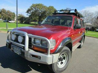 1997 Toyota Landcruiser GXL (4x4) Red 5 Speed Manual 4x4 Wagon.