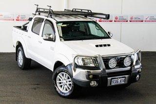 2011 Toyota Hilux KUN26R MY12 SR5 (4x4) Glacier White 4 Speed Automatic Dual Cab Pick-up.