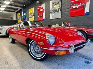 1970 Jaguar E-Type Series 2 4.2 Red 4 Speed Manual Roadster.
