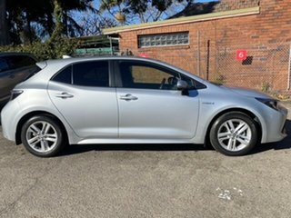 2019 Toyota Corolla ZWE211R SX E-CVT Hybrid Silver Pearl 10 Speed Constant Variable Hatchback.