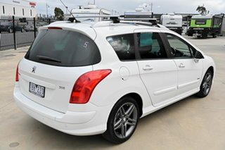 2013 Peugeot 308 T7 MY13 Sportium Touring White 6 Speed Sports Automatic Wagon