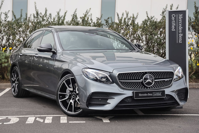 Certified Pre-Owned Mercedes-Benz E-Class W213 808MY E43 AMG 9G-Tronic PLUS 4MATIC Mulgrave, 2017 Mercedes-Benz E-Class W213 808MY E43 AMG 9G-Tronic PLUS 4MATIC Selenite Grey 9 Speed