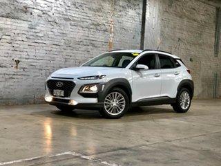 2017 Hyundai Kona OS MY18 Elite D-CT AWD White 7 Speed Sports Automatic Dual Clutch Wagon.