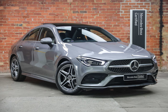 Certified Pre-Owned Mercedes-Benz CLA-Class C118 800+050MY CLA200 DCT Mulgrave, 2020 Mercedes-Benz CLA-Class C118 800+050MY CLA200 DCT Mountain Grey 7 Speed