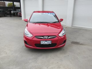 2014 Hyundai Accent RB2 Active Red 4 Speed Sports Automatic Hatchback.