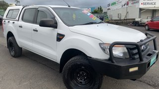 2012 Ford Ranger PX XL 2.2 (4x4) White 6 Speed Automatic Crew Cab Utility.