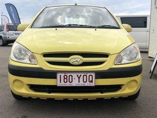 2006 Hyundai Getz TB MY06 Yellow 5 Speed Manual Hatchback