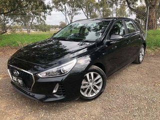 2017 Hyundai i30 PD MY18 Active Black 6 Speed Sports Automatic Hatchback.