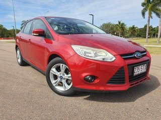 2012 Ford Focus LW MkII Trend PwrShift Candy Red 6 Speed Sports Automatic Dual Clutch Sedan.