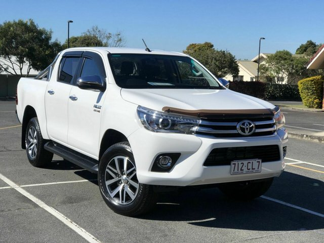 Used Toyota Hilux GUN126R SR5 Double Cab Chermside, 2017 Toyota Hilux GUN126R SR5 Double Cab White 6 Speed Sports Automatic Utility