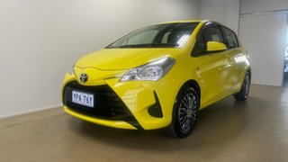 2019 Toyota Yaris NCP130R MY18 Ascent Yellow 4 Speed Automatic Hatchback