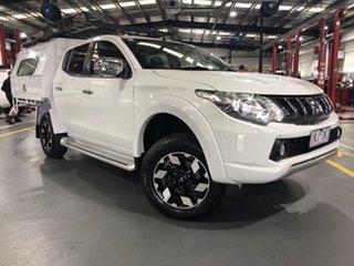 2018 Mitsubishi Triton MQ MY18 Exceed (4x4) White 5 Speed Automatic Dual Cab Utility.