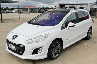 2013 Peugeot 308 T7 MY13 Sportium Touring White 6 Speed Sports Automatic Wagon.