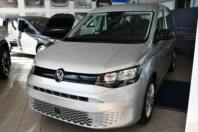 New Volkswagen Caddy SKN MY21 TDI320 Cargo Crewvan LWB DSG Victoria Park, 2021 Volkswagen Caddy SKN MY21 TDI320 Cargo Crewvan LWB DSG Reflex Silver 7 Speed
