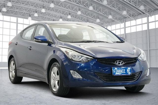 Used Hyundai Elantra MD Elite Victoria Park, 2012 Hyundai Elantra MD Elite Blue 6 Speed Manual Sedan