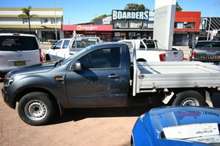 2014 Ford Ranger PX XL 2.2 (4x2) Grey 6 Speed Manual Cab Chassis