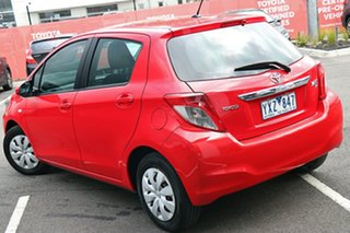 2011 Toyota Yaris NCP130R YR Red 4 Speed Automatic Hatchback