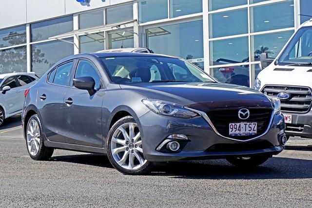 Used Mazda 3 BM5236 SP25 SKYACTIV-MT GT Springwood, 2014 Mazda 3 BM5236 SP25 SKYACTIV-MT GT Grey 6 Speed Manual Sedan