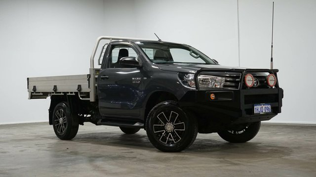 Used Toyota Hilux GUN126R SR Welshpool, 2019 Toyota Hilux GUN126R SR Graphite 6 Speed Sports Automatic Cab Chassis