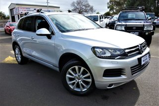 2013 Volkswagen Touareg 7P MY13 150TDI Tiptronic 4MOTION Silver 8 Speed Sports Automatic Wagon.