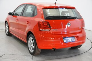 2011 Volkswagen Polo 6R MY11 77TSI DSG Comfortline Red 7 Speed Sports Automatic Dual Clutch.