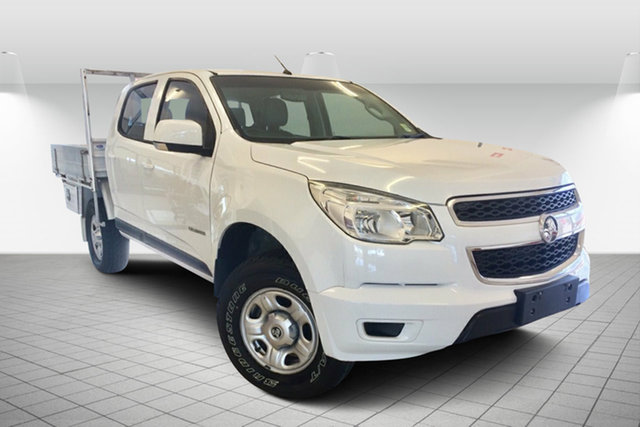 Used Holden Colorado RG MY14 LX Crew Cab 4x2 Maryborough, 2014 Holden Colorado RG MY14 LX Crew Cab 4x2 White 6 Speed Sports Automatic Cab Chassis