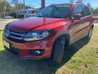 2012 Volkswagen Tiguan 5N MY12.5 132TSI Tiptronic 4MOTION Pacific Red 6 Speed Sports Automatic Wagon.