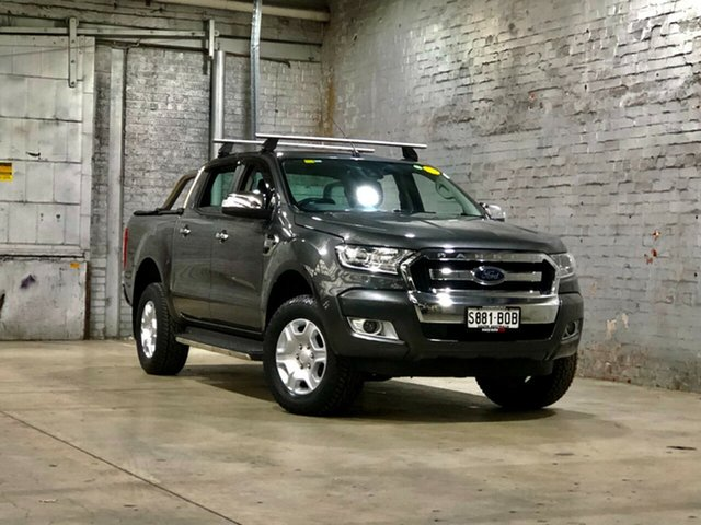 Used Ford Ranger PX MkII 2018.00MY XLT Double Cab Mile End South, 2017 Ford Ranger PX MkII 2018.00MY XLT Double Cab Grey 6 Speed Sports Automatic Utility